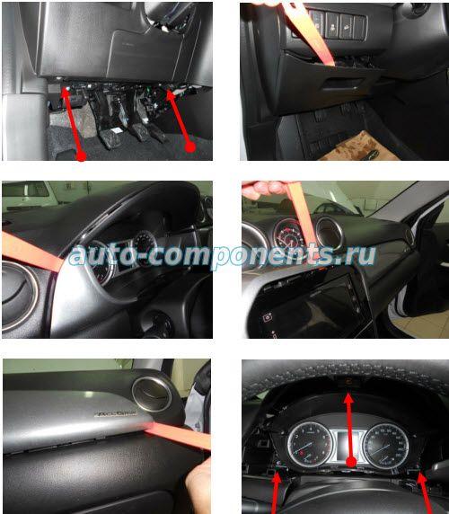 Демонтаж пластиковых панелей Suzuki Vitara