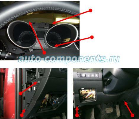 Демонтаж пластиковых панелей Hyundai ix35