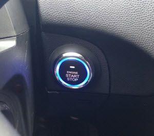 Кнопка Старт Стоп с синей подсветкой